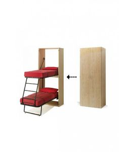 Compatto U2013 Hidden Vertical Murphy Bunk Beds