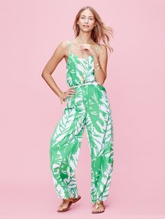 ade0a745b588 LILLY PULITZER COLLABO REVISITED Satin Jumpsuit