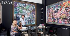 A soulful sanctuary on Palm Jumeirah allows British artist Sacha Jafri to present his art with both passion and purpose, writes Emily Baxter Palm Jumeirah, Beach Villa, Pipe Dream, Celebrity Houses, Art Pictures, Creative Art, New Art, Fashion Art, Studio