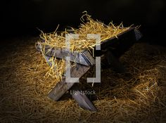 Stock Photo - Hay in a manger by KevinCarden - Lightstock