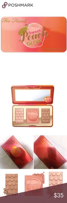 Sweet peach glow blush kit Brand new. Never used! Smells just like peaches. Ask for any questions! Two Faced Makeup Blush