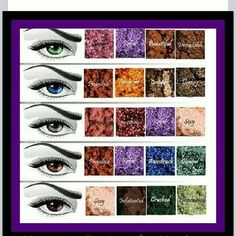 Let me suggest some colors to go with your eye color. This is not written in stone! Have fun Play with your make up <3