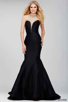 Jovani Black Sleeveless Evening Dress 36141 $359.98 Jovani