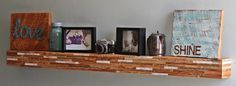 Barn Wood Wall Art Floating Mantle by wrenwoods on Etsy, $289.95