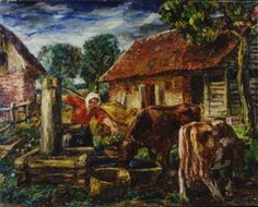 "Ģederts Eliass. ""By the Well"""