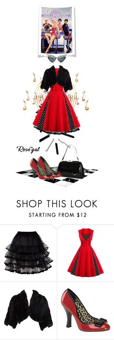 """Rosegal Rock n Roll"" by leanne-mcclean ❤ liked on Polyvore featuring CO, Pinup Couture and vintage"