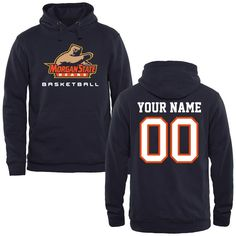 Morgan State Bears Personalized Basketball Pullover Hoodie - Navy