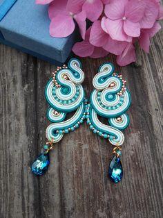 Soutache earrings by MaNiko.  More https://www.facebook.com/maniko2013