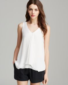 Joie Top Celestina Silk in White (Porcelain) - Lyst
