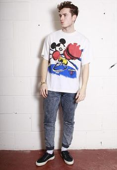 Vintage 80's Mickey Mouse Boxing T-Shirt  £28