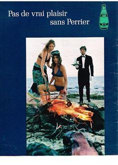 PUBLICITE 1970 PERRIER meme au bord de la mer.. in Collections, Objets publicitaires, Publicités papier | eBay