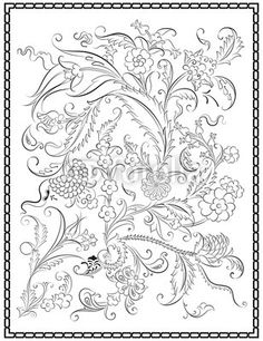 Çini Pano Deseni Frame Çerçeve - Buy this stock vector and explore similar vectors at Adobe Stock Jacobean Embroidery, Embroidery Patterns, Hand Embroidery, Mandala Painting, Dot Painting, Flower Patterns, Flower Designs, Turkish Art, Brocade Fabric