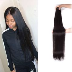 Brazilian Straight Hair Bundles With Closure, 28 30 32 34 40 Inch Weave Hairstyles, Straight Hairstyles, Buy Hair Extensions, Best Virgin Hair, Virgin Hair Bundles, Remy Human Hair, Lace Wigs, Kinky, High Neck Dress