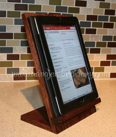 Handcrafted Wooden iPad/Tablet Recipe Stand. Just got one and think I might be giving them as gifts too!