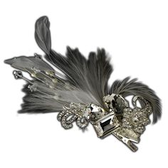 Rhinestone Floral Galore Feather Accent Wedding Bridal Hair Comb Clip Brooch - White >>> This is an Amazon Affiliate link. Want to know more, click on the image.