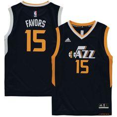 Derrick Favors Utah Jazz adidas Youth Replica Jersey - Navy