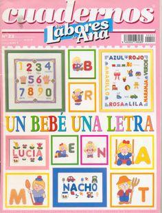Gallery.ru / Photo # 1 - Las Labores de Ana Cuadernos 22 - anfisa1 Cross Stitch For Kids, Cross Stitch Baby, Cross Stitch Patterns, Cross Stitch Magazines, Cross Stitch Books, Plastic Canvas, Book Crafts, Beading Patterns, Free Pattern