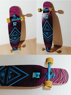 Hand painted longboard. Loaded Bhangra