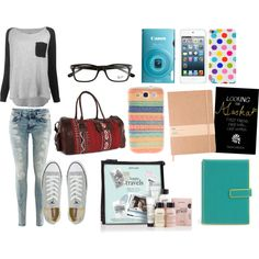 Airplane Outfit and What's in my carry on bag - Polyvore