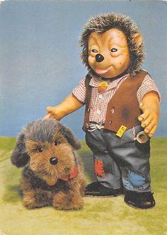 Alte AK Steiff Tiere / Dackel und Igel Mecki 1978 / Spieltiere | eBay