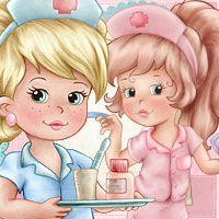 Cute Nurses - Digi Stamps - $4.50 : Digital stamp, scrapboking, crafts, doodles, cliparts & templates by The Paper Shelter