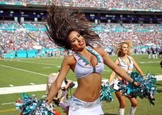 Miami Dolphins cheerleader performs - Steve Mitchell/USA TODAY Sports