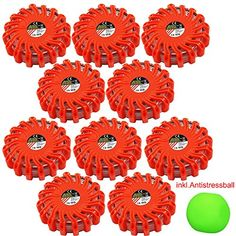 10 x LED Notfall Warnleuchte Leuchte Rot Warnblickleuchte SOS Spar-Set - My-goodbuy24