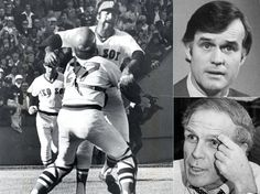 Clockwise, from left: Carlton Fisk and Luis Tiant's exploits in 1975 dwarfed the mayoral race between challenger Joseph Timilty and incumben...