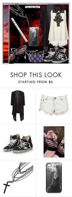 """""""Evanescence Field of Innocence"""" by just-call-me-chuck ❤ liked on Polyvore featuring MANGO, One Teaspoon, Topshop, Golden Goose and deepstyle"""