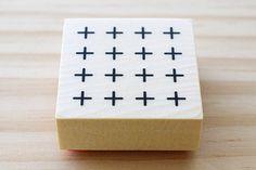 Rubber stamp  small cross pattern by karaku on Etsy, ¥650
