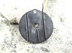 Forged iron pendant -- the perfect Mother's day gift, wrought iron zipper charm traditional design