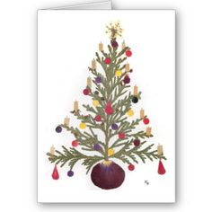 Christmas Pressed Flower Design Cards