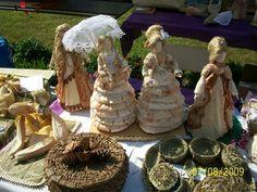 Рукодельница: Куклы из кукурузных листьев.