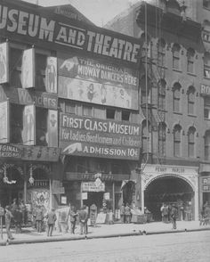First Class Museum for Ladies, Gentlemen and Children.   State Street, Chicago, 1912.   via: Chicago Past