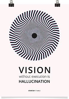 Vision without execution is hallucination. via: startupvitamin
