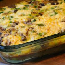 Mushroom, Green Pepper, and Feta Breakfast Casserole Recipe