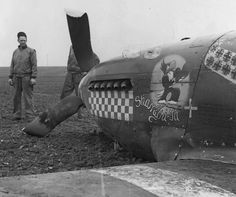 Capt Don Gentile's 'pranged' kite...
