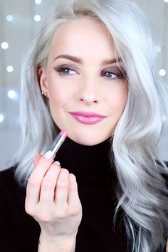 Why Ive Fallen for the Dior Addict Lacquer Sticks - Dior Lipstick - Ideas of Dior Lipstick. Trending Dior Lipstick - Dior Addict Lacquer Sticks are my new addiction! The perfect lipstick! Pastel Pixie Hair, Pastel Blue Hair, Lilac Hair, Green Hair, Grey Hair Over 50, Long Gray Hair, Grey Hair Dye, Dyed Hair, Silver Haired Beauties
