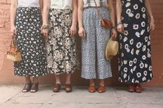 Breaking Amish. Bahaha just kidding. Cute thrifty skirts. (They wouldn't reveal their ankles anyway) :)