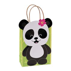 Panda Party Kraft Gift Bags - OrientalTrading.com