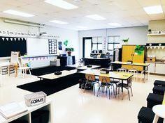 Ikea White Shelves, Floating Shelves, Black Chalkboard, Extra Storage Space, Learning Spaces, Storage Shelves, Classroom Decor, Nook, Modern Farmhouse