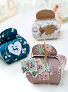pretty Gift Boxes with template