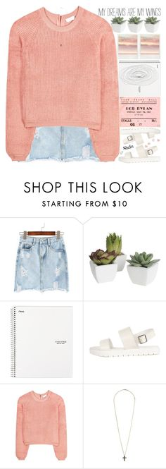 """i wish feelings left when a person does"" by alienbabs ❤ liked on Polyvore featuring Pier 1 Imports, See by Chloé, Topshop, clean, organized and shein"