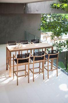 Natural Materials And Sleek Design Make The XQI High Table And Bar Stools  By Royal Botania A Natural Choice.