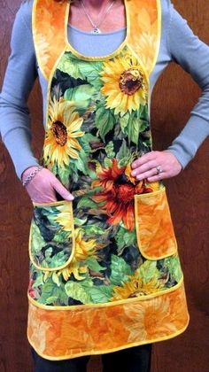 What a pretty apron.