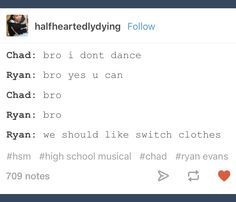Chad; Ryan; HSM; High School Musical