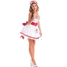 Damen Sexy Krankenschwester Kostüm ca 19€ | Kostüm-Idee zu Karneval, Halloween & Fasching