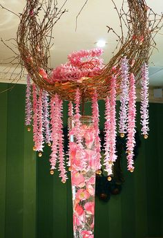 Pretty pink floral art <3