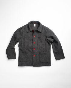 Le Laboureur Wool Work Jacket Grey 694676e48f73