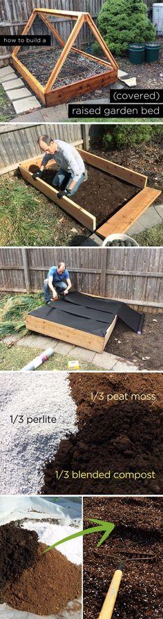 DIY Covered Raised Garden Bed.